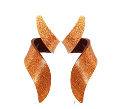 EARRING CURLY GLITTER ORANGE