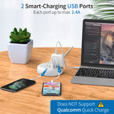 iDount Power Strip 4 Outlet 2 USB Desktop Charging Station
