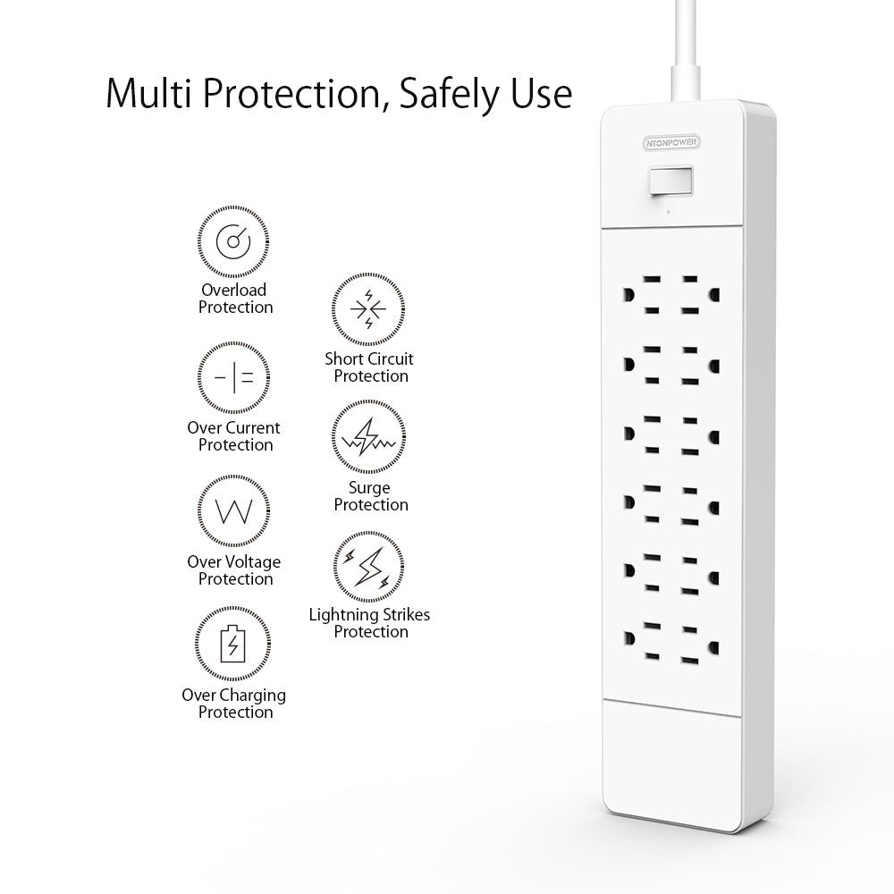43% OFF Power Strip USB Charger with Surge Protection 6AC+8AC+12AC [Larrge Capacity][US/CA]
