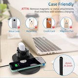 3 in 1 Wireless Charging Station for apple airpods,iphone,iwatch, inlcluding QC3.0 Fast charger adapter
