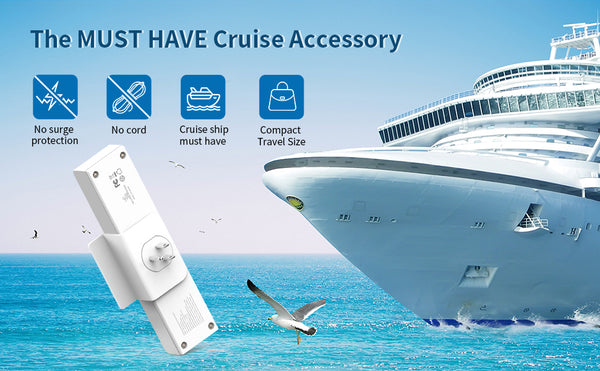 Cruise Power Strip with 3 USB 3 Outlets - NTONPOWER Travel USB Charging Station with Phone Stand, Cube Tap Power Outlet Extender Adapter, Non Surge Protection -Wholesale power strip White(Wholesale Power Strip)