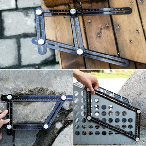 👉Buy 2 Get 1 FREE👉Full Metal Multi Angle Measuring Ruler