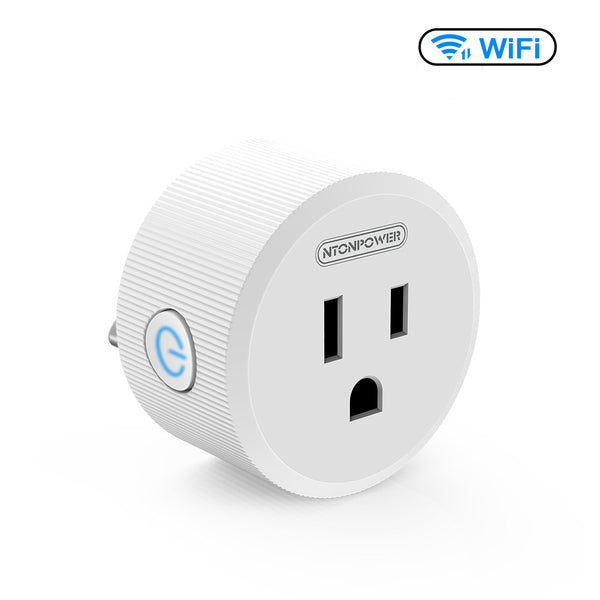 [Buy 2 Get 3]Smart Plug WiFi Outlet Timer, NTONPOWER Electrical Outlet Switch Work with Amazon Alexa and Google Assistant Voice Remote Control for Home Appliance (White)