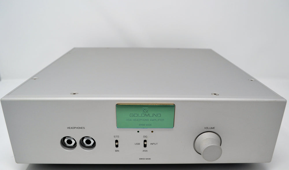 Goldmund Telos Headphone Amplifier 2 (THA2) with built-in 32 Bit / 384 kHz DAC