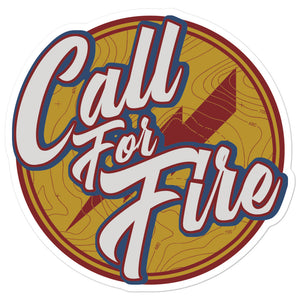 Call For Fire Script Sticker