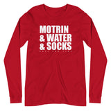 Motrin & Water & Socks Unisex Long Sleeve