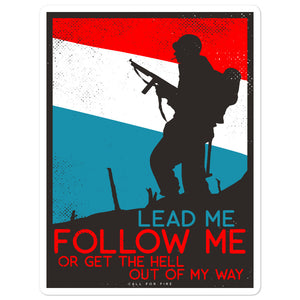 Lead Me Sticker