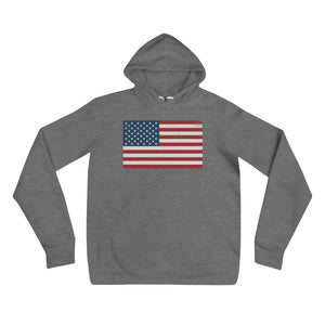 Red White and Blue Flag Hoodie