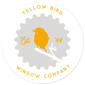 Yellow Bird Window Company Sticker