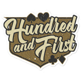 Hundred and First Sticker