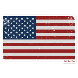 Red White and Blue Flag Sticker