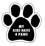"Paw Print Sticker ""My Kids Have 4 Paws"" - pawprintshq-com"