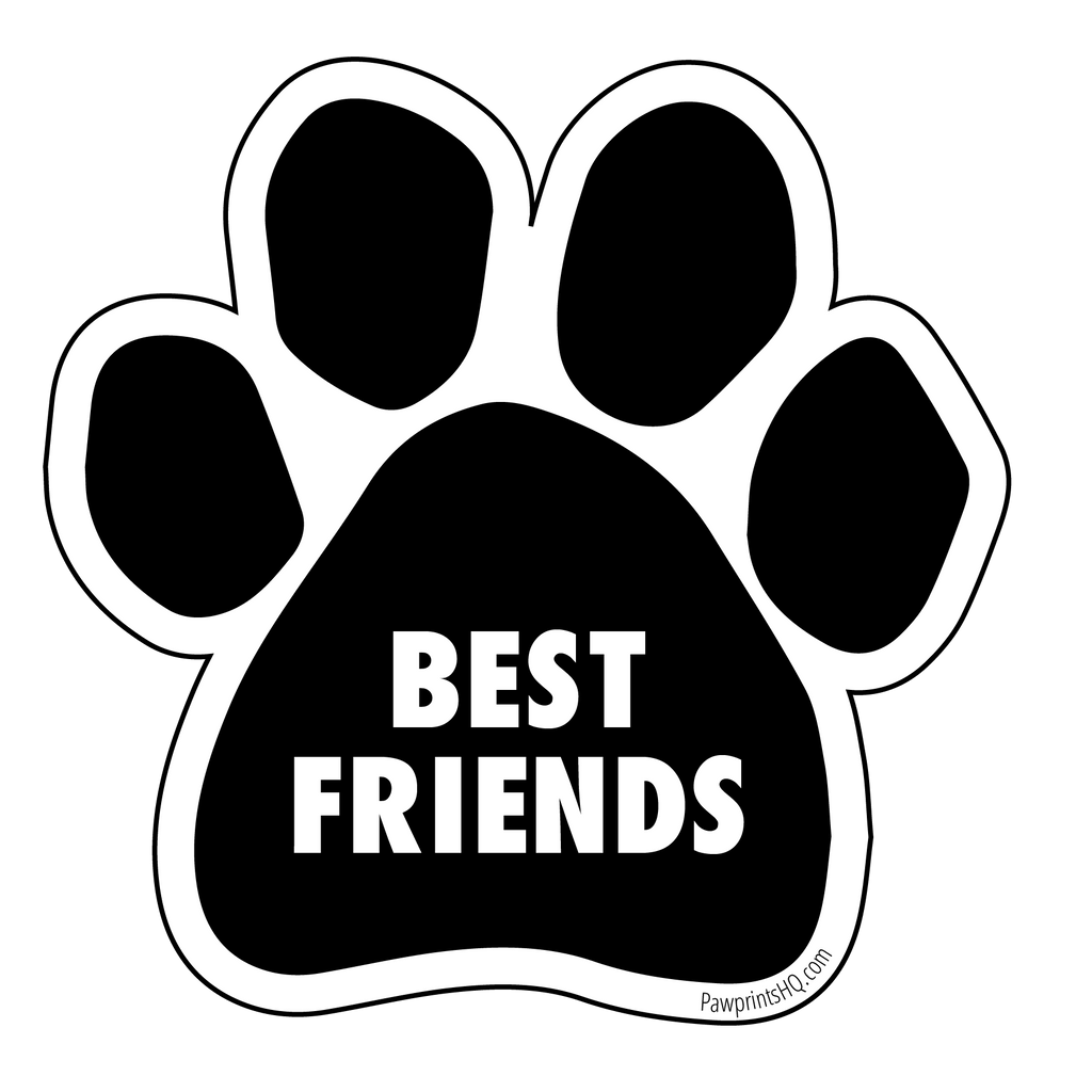 "Paw Print Sticker ""Best Friends"" - pawprintshq-com"