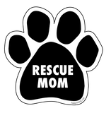 "Paw Print Sticker ""Rescue Mom"" - pawprintshq-com"