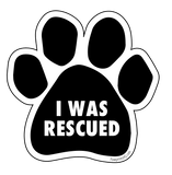 "Paw Print Sticker ""I Was Rescued"" - pawprintshq-com"