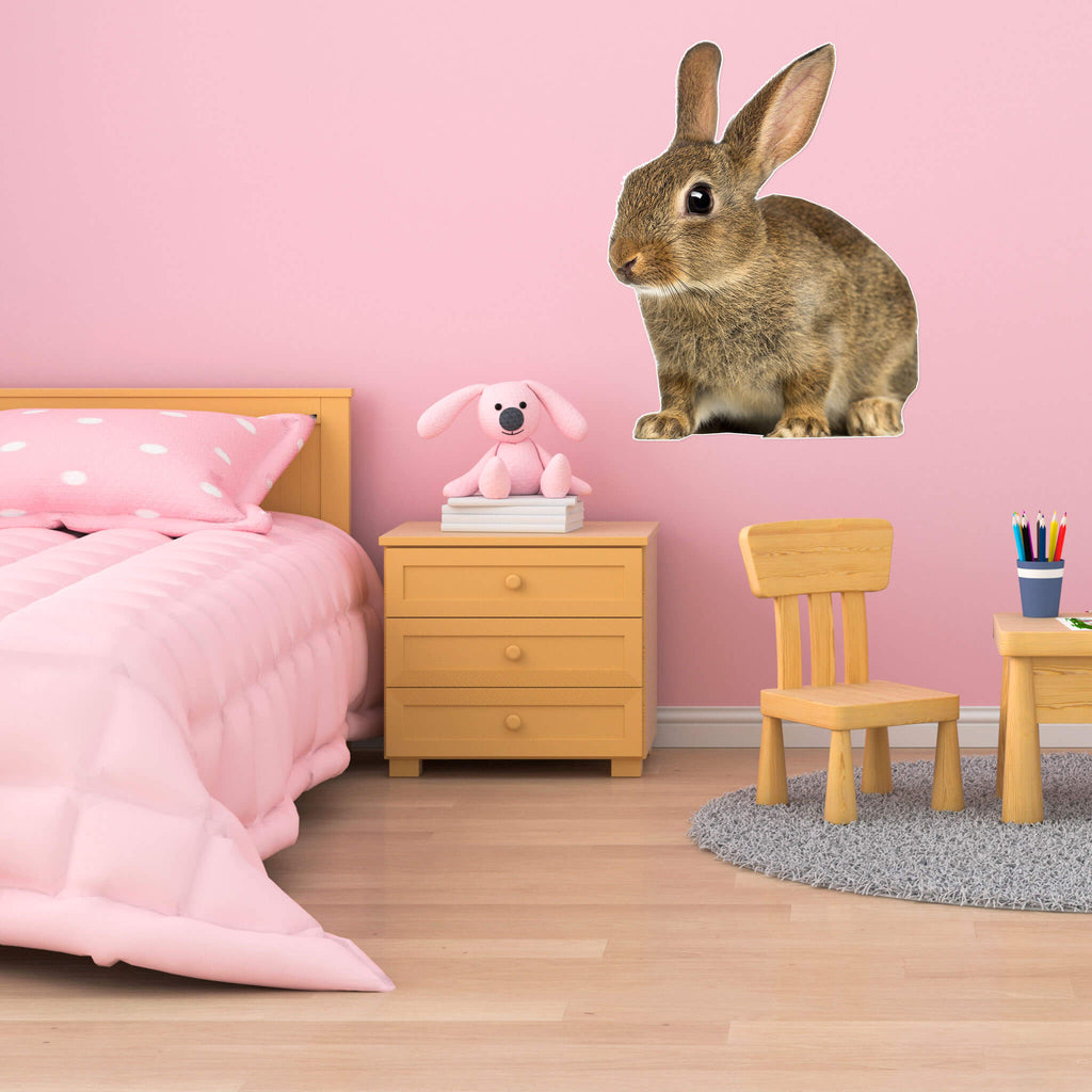 Rabbit Body Vinyl Wall Sticker - pawprintshq-com