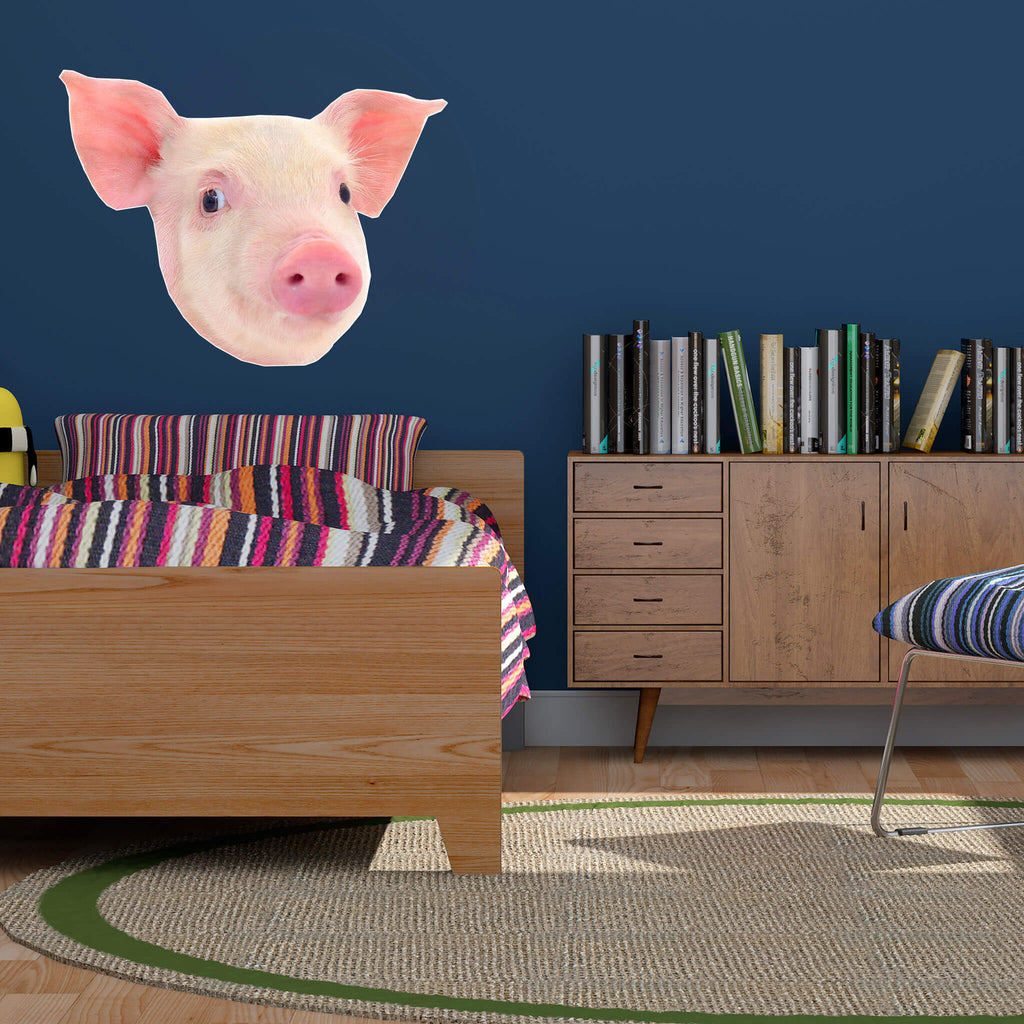Pig Head Vinyl Wall Sticker - pawprintshq-com