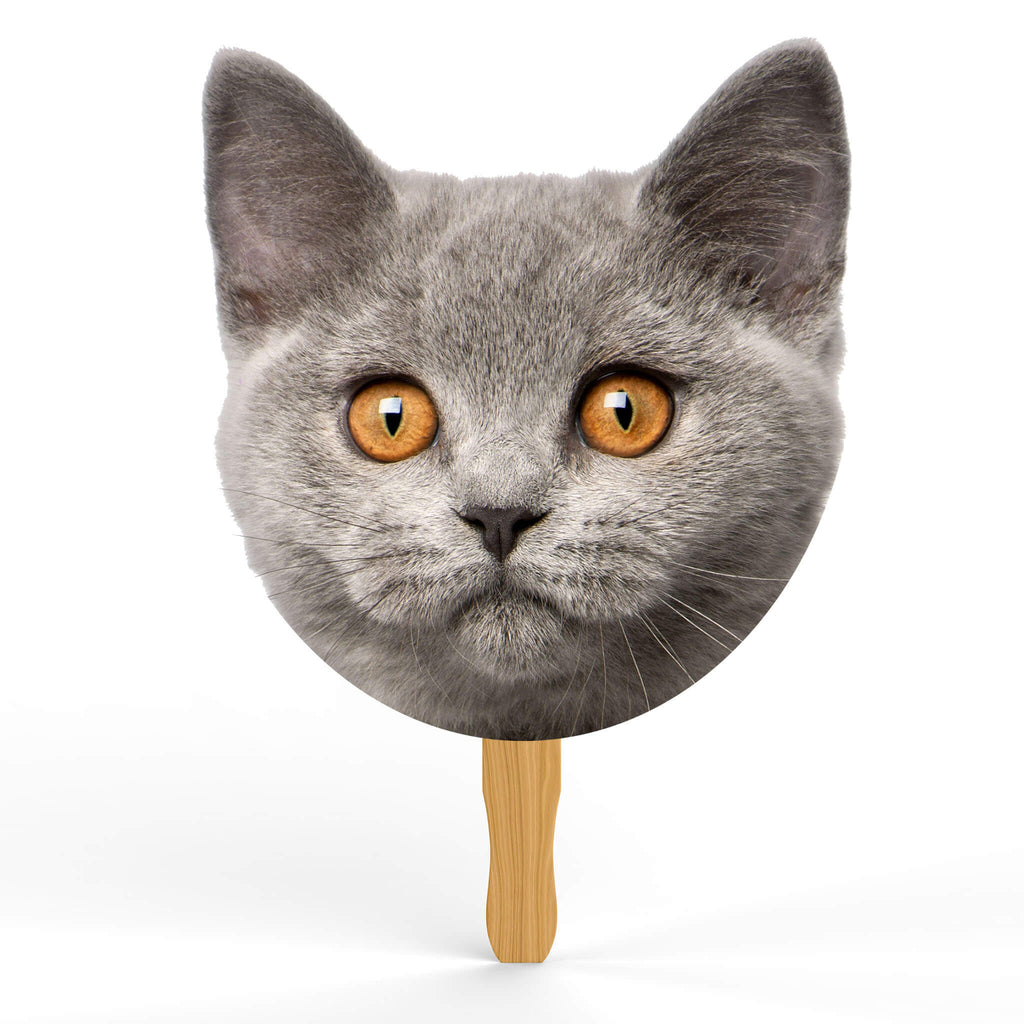 British Shorthair Head Cutout - pawprintshq-com