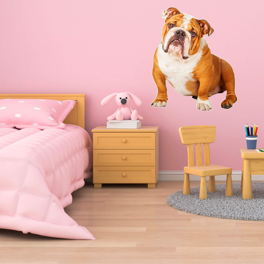 Bulldog Body Vinyl Wall Sticker - pawprintshq-com