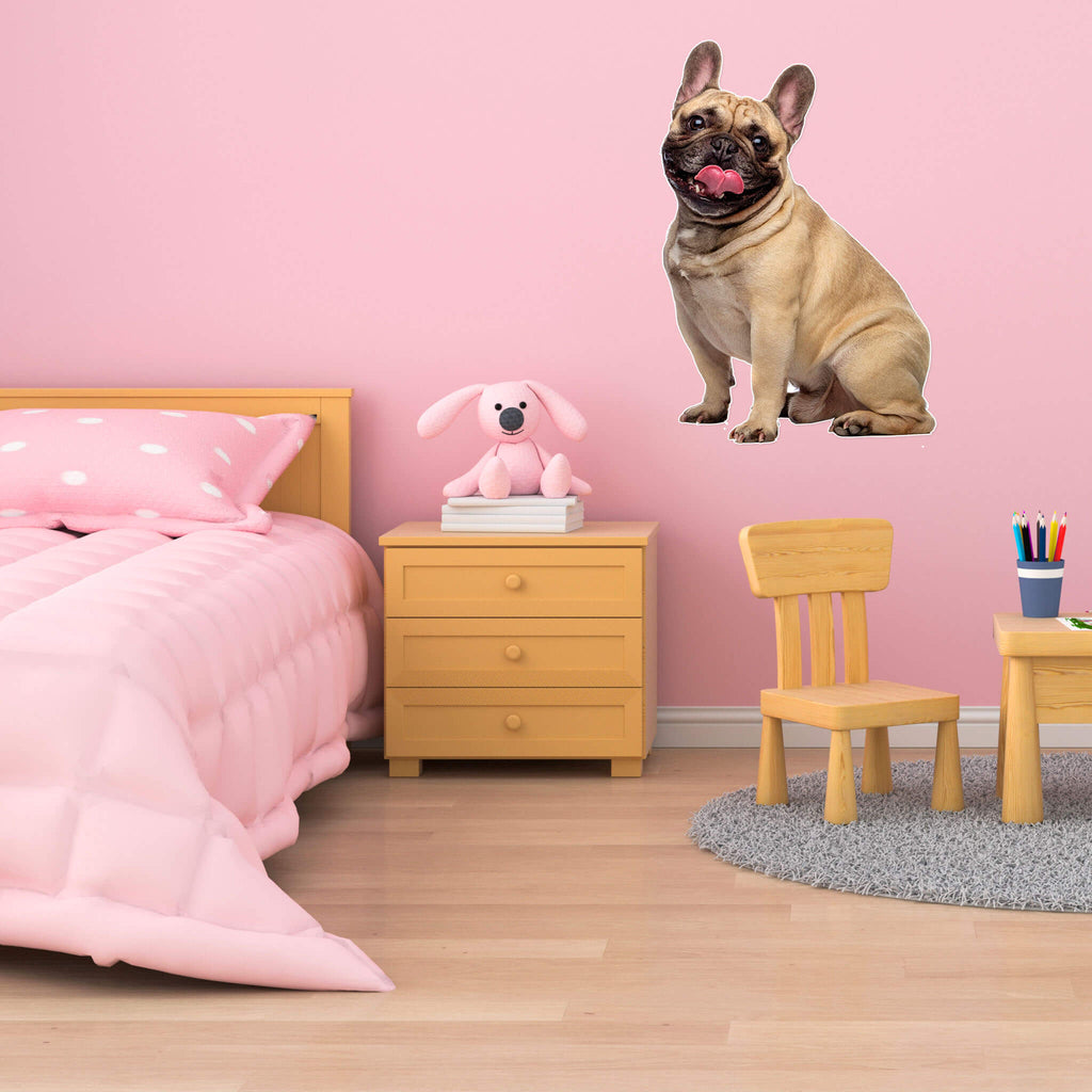 French Bulldog Body Vinyl Wall Sticker - pawprintshq-com