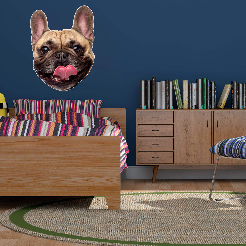 French Bulldog Head Vinyl Wall Sticker - pawprintshq-com