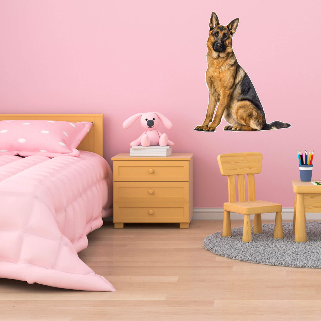 German Shepherd Body Vinyl Wall Sticker - pawprintshq-com
