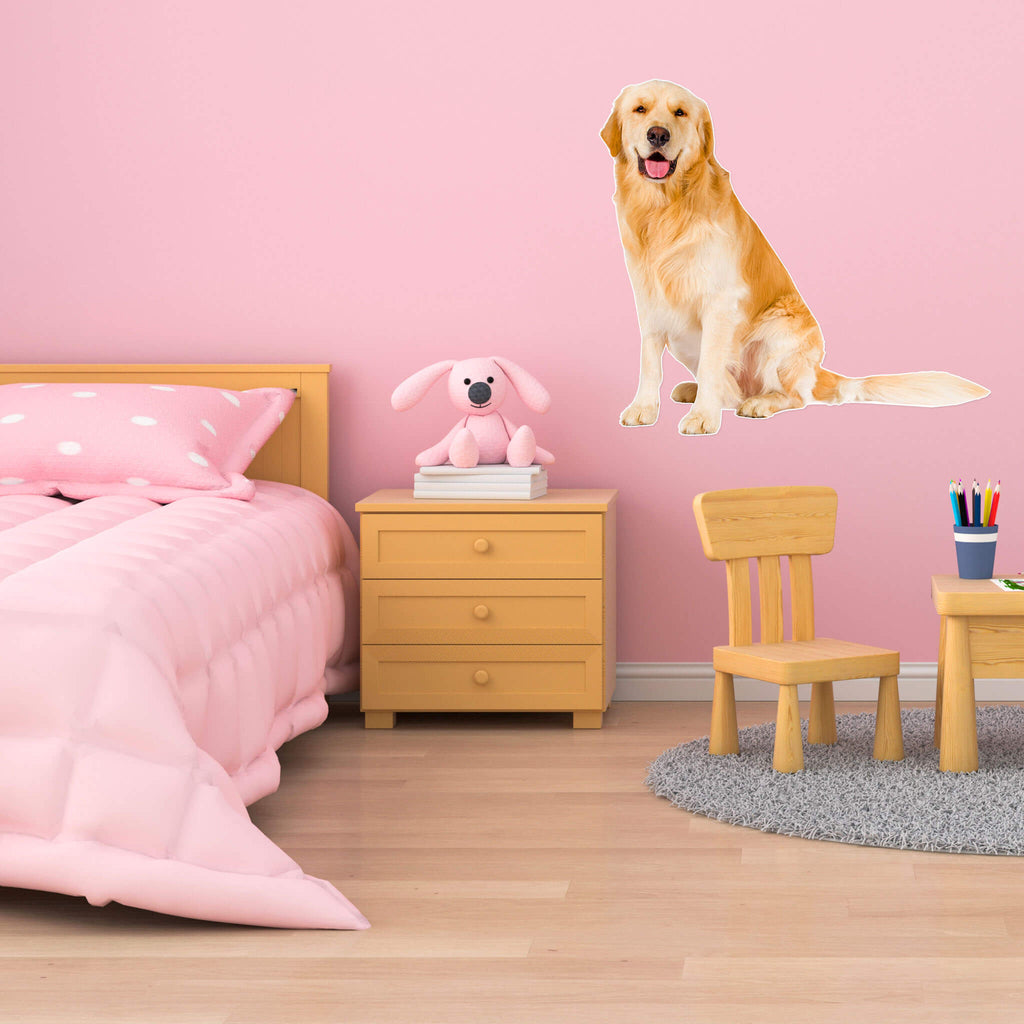 Golden Retriever Body Vinyl Wall Sticker - pawprintshq-com