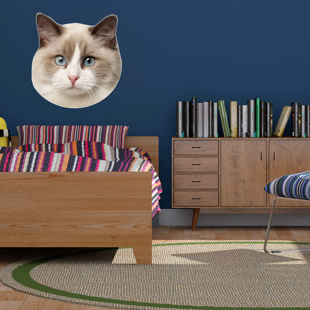 Ragdoll Head Vinyl Wall Sticker - pawprintshq-com