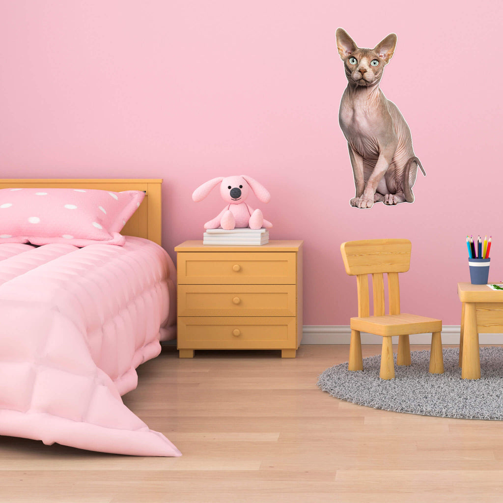 Sphynx Body Vinyl Wall Sticker - pawprintshq-com