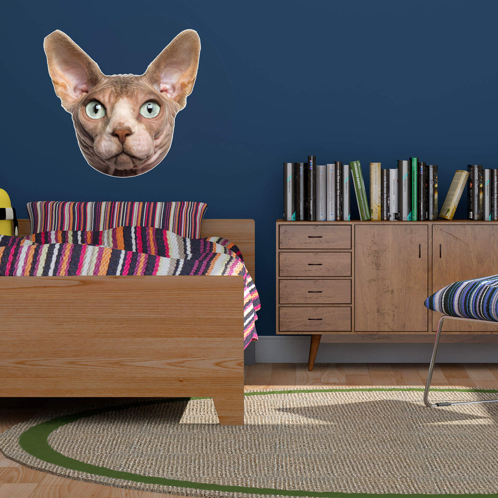 Sphynx Head Vinyl Wall Sticker - pawprintshq-com