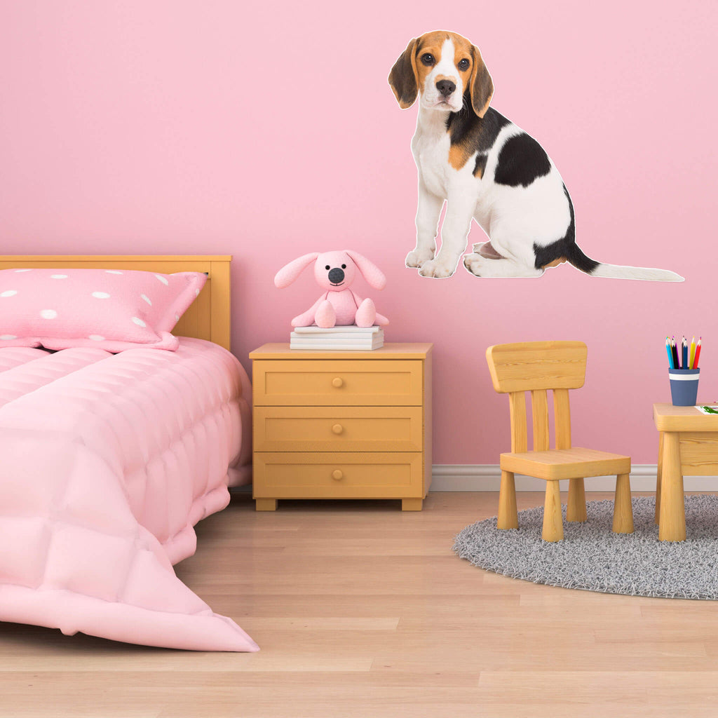 Beagle Body Vinyl Wall Sticker - pawprintshq-com