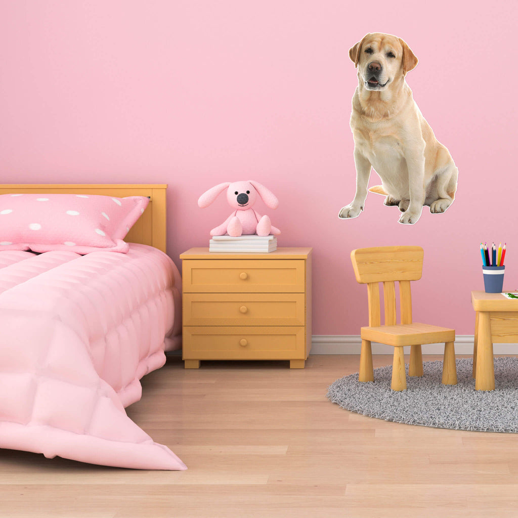 Labrador Retriever Body Vinyl Wall Sticker - pawprintshq-com