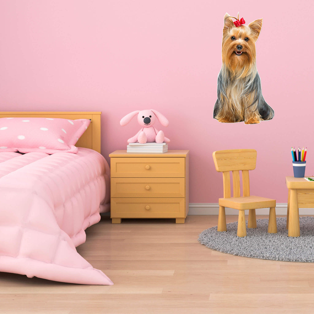 Yorkshire Terrier Body Vinyl Wall Sticker - pawprintshq-com