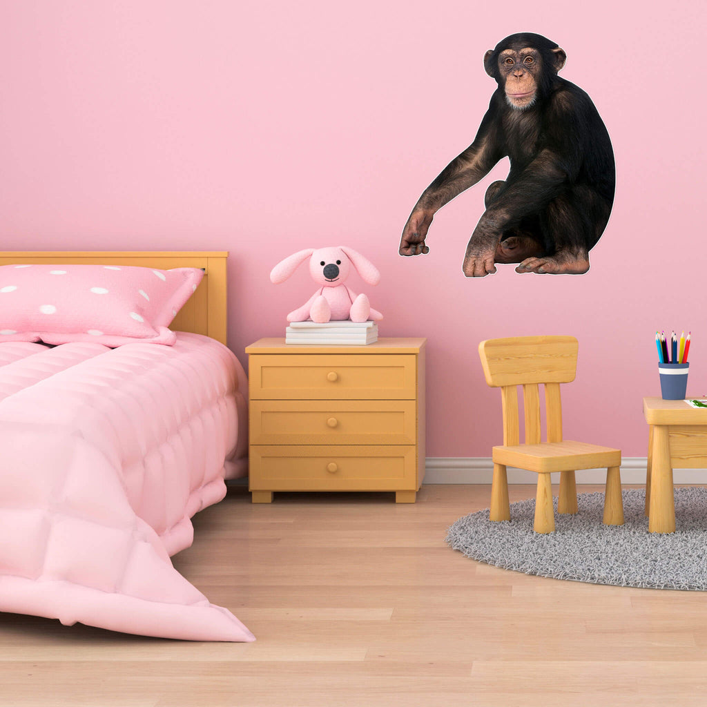Chimpanzee Body Vinyl Wall Sticker - pawprintshq-com
