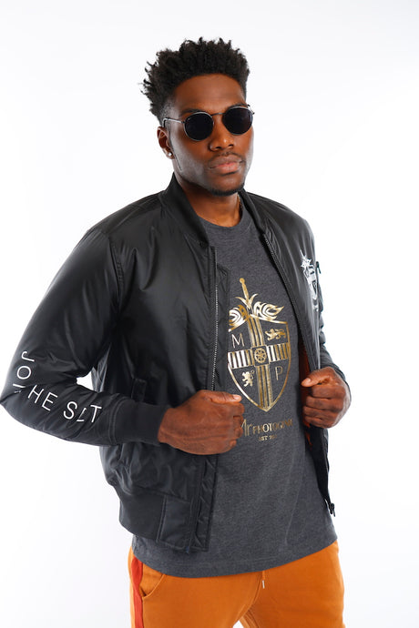 Black Join The Set® Bomber Jacket - Mr Photogenic