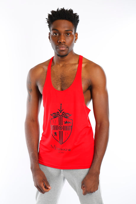 Red Join The Set® Logo Muscle Vest - Mr Photogenic