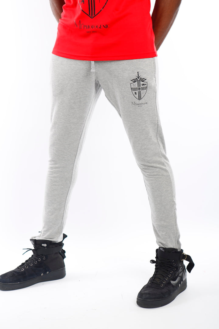 Grey Tapered Join The Set® Logo Jogger Pants - Mr Photogenic