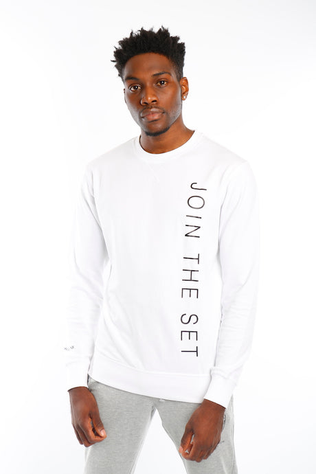 White Join The Set® Light Weight Crew Neck Sweat - Mr Photogenic