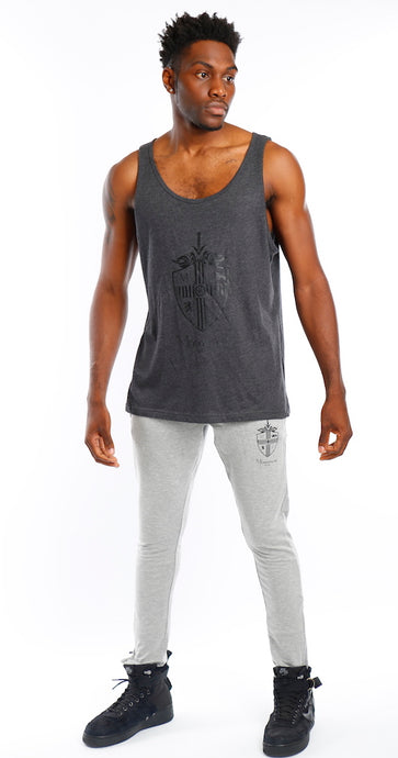 Charcoal Big Tank Black Logo Top - Mr Photogenic
