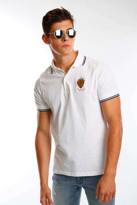 White Classic Light Weight Polo