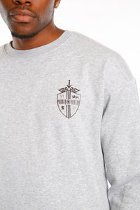 Grey Classic Shield Crew Neck Sweat