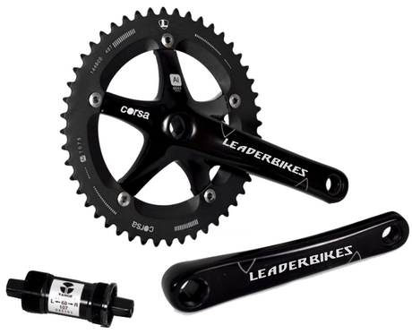 LEADER BIKES Corsa Crankset LT with Tange BB