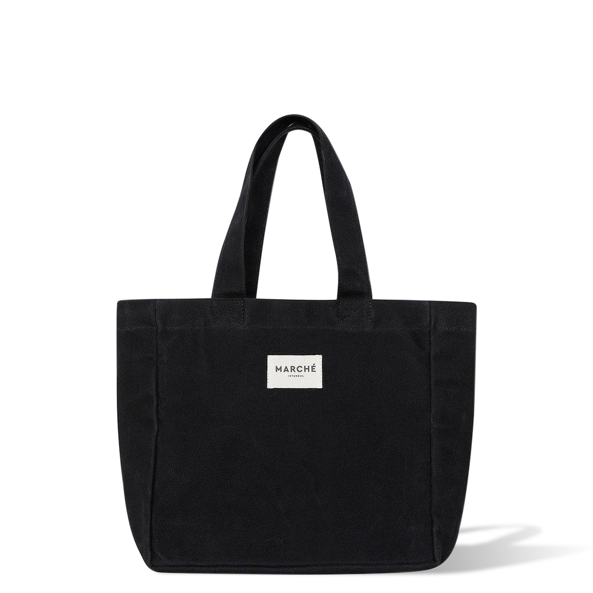 Black Waxed Canvas Midi Lido Bag