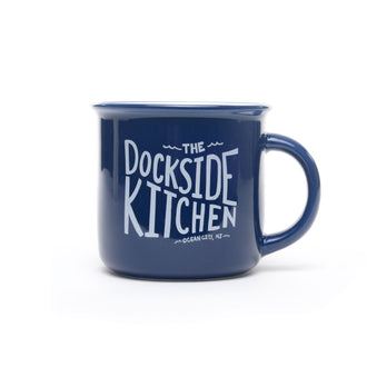 Dockside Kitchen Ocean City NJ OCNJ Mug in Navy Blue