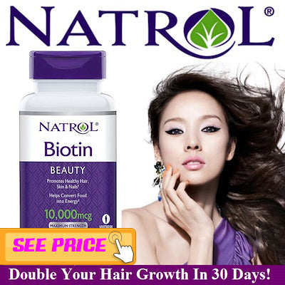 14.	Natural Biotin Maximum strength Tablets,  Hair growth tips for men and women 2019