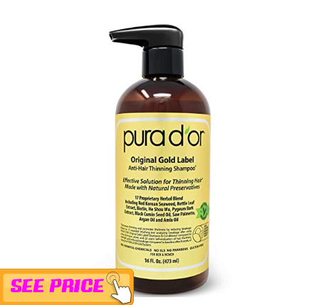 Pura D'Or Original Gold Label Anti-thinning Shampoo, Hair growth tips for men and women 2019