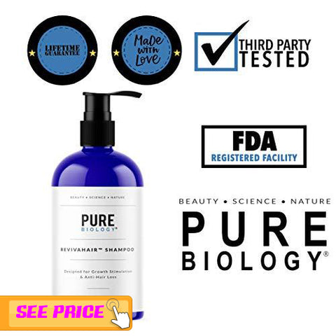 Pure Biology Hair Growth Shampoo,  Hair growth tips for men and women 2019