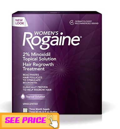 Women's Rogaine Treatment for Hair loss and Hair thinning, Hair growth tips for men and women 2019
