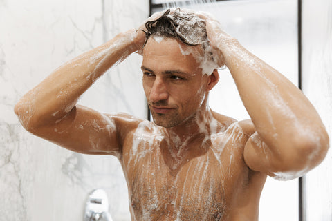man shampooing hair, Hair growth tips for men and women 2019