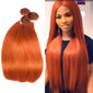 #350 Brazilian Remy Straight Human 3 Hair Bundle Deals